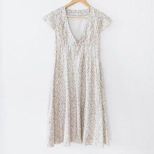 Bellerose Short Sleeve Floral Midi Length Dress
